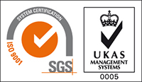 SGS ISO-9001 Logo - Norjen Precision